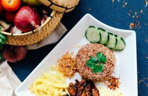 Alimentação na quarentena - comida na mesa