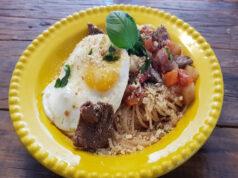 Espaguete com picadinho - chef Melchior Neto