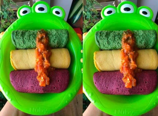 Receita de Panquecas nutritivas e coloridas para a criançada