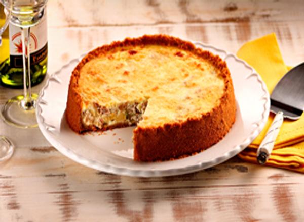 Receita de cheesecake de atum champignon e aspargos