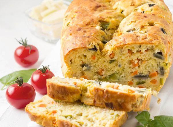 Receita de bolo suflê de aveia integral com legumes