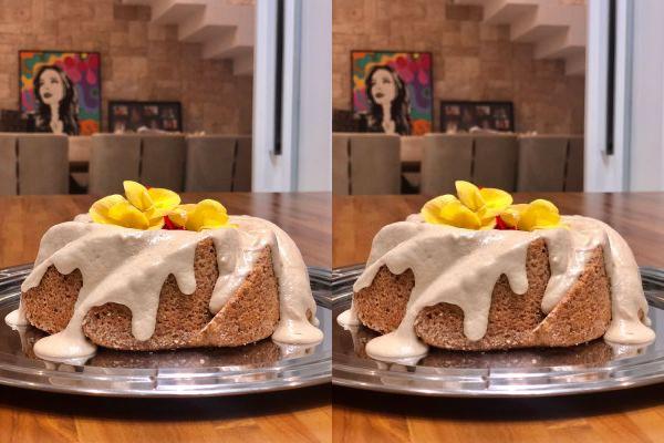 receita de bolo de laranja low carb e sem glúten.